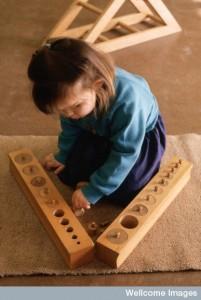 AS0000139F22 Child, at Montessori nursery school