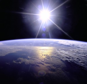 PD sun over earth