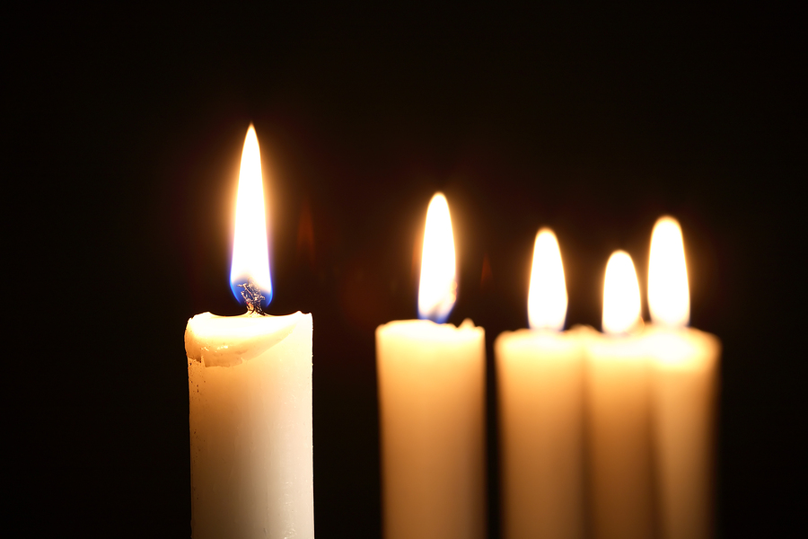 Lighting A Room With Candles