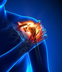 Shoulder pain - detail - pain concept